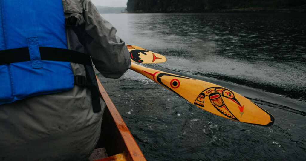 canoe paddles near newcastle island nanaimo