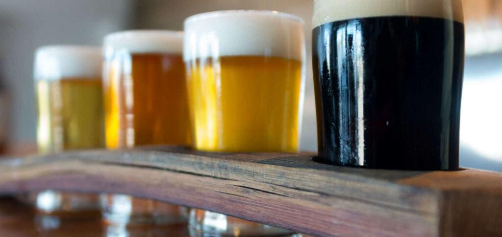 flight of nanaimo craft beer