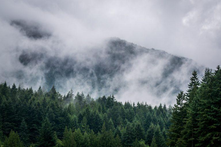 misty mountain image