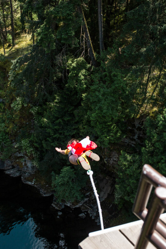 Bungee jumping at Wildplay Nanaimo