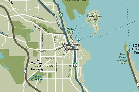 Nanaimo Area Map